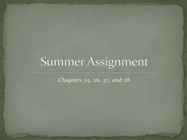 summer assignment n.