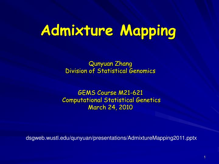 admixture mapping n.