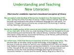understanding and teaching new literacies