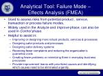 analytical tool failure mode effects analysis fmea