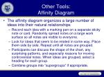 other tools affinity diagram