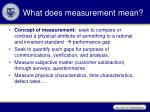 what does measurement mean