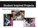 student inspired projects