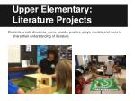 upper elementary literature projects