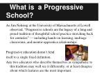 what is a progressive school