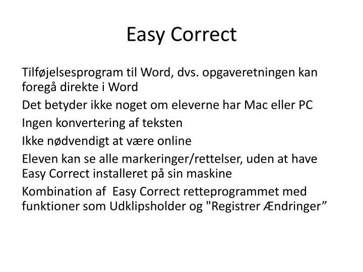 Easy Correct