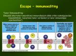 escape immunoediting