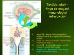 tov bbi okok anya s magzat immunol giai interakci i