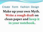 create form fashion design