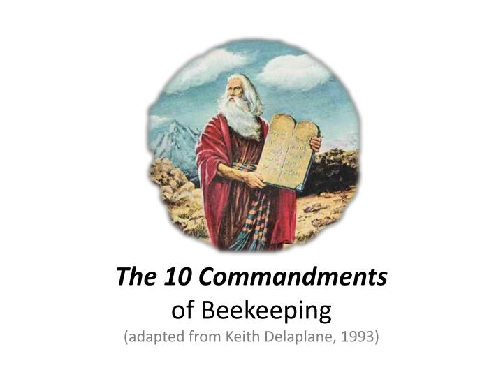 the 10 commandments of beekeeping adapted from keith delaplane 1993 n.