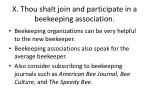 x thou shalt join and participate in a beekeeping association
