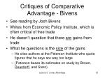 critiques of comparative advantage bivens