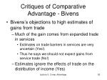 critiques of comparative advantage bivens1