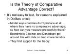 is the theory of comparative advantage correct
