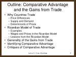 outline comparative advantage and the gains from trade