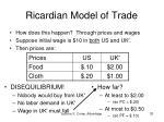 ricardian model of trade11
