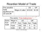 ricardian model of trade12