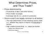 what determines prices and thus trade