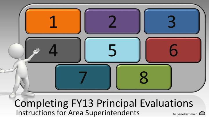 Completing fy13 principal evaluations