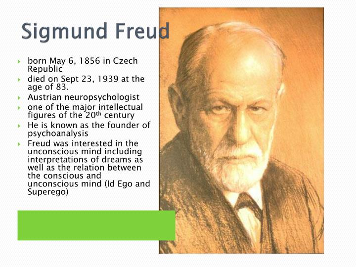 sigmund freud father of the conscious Sigmund freud considered the father of psychoanalysis, sigmund freud (1856-1939) revolutionizes the study of dreams with his work the interpretation of dreams freud begins to analyze dreams in order to understand aspects of personality as they relate to pathology.