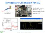polycapillary collimation for ixs