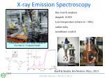 x ray emission spectroscopy