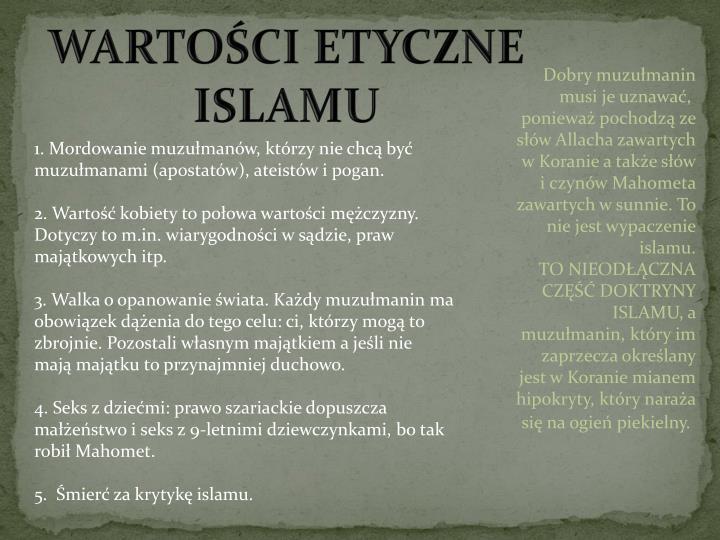 WARTOŚCI ETYCZNE ISLAMU
