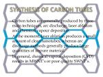 synthesis of carbon tubes