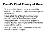 freud s final theory of cure