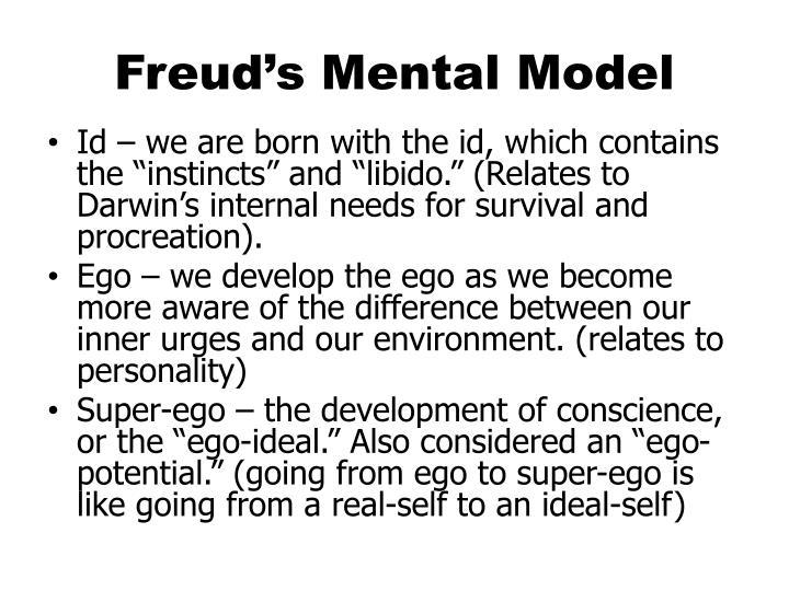 "freud darwin and primal instincts Freud"" s conceptualization of the social world: psychology recapitulating sociology or sociology recapitulating psychology  is not a struggle between the primal instincts of eros and death but rather is a dispute within the economics of the libido, which concerns the distribution of libido between ego and objects  l b (1965) darwin."