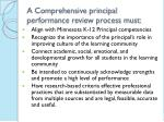 a comprehensive principal performance review process must