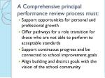 a comprehensive principal performance review process must1