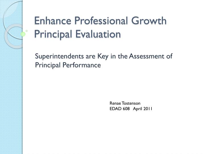 enhance professional growth principal evaluation n.
