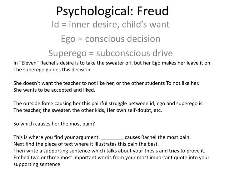 psychological freud n.
