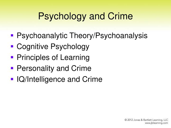 psychology and crime n.