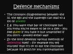 defence mechanisms