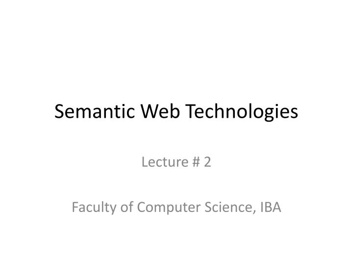 semantic web technologies n.