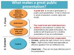 what makes a great public presentation