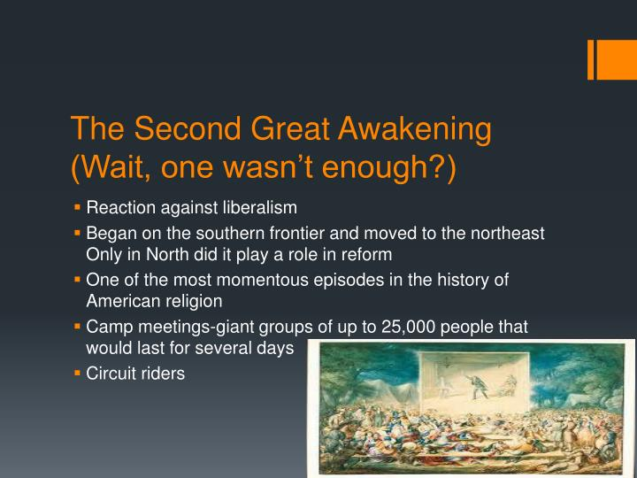 religion in american history great awakening essay Read this american history essay and over 88,000 other research documents great awakening the first great awakening was a religious movement among the colonies in the 1730's and the 1740's.
