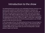introduction to the show