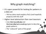 why graph matching