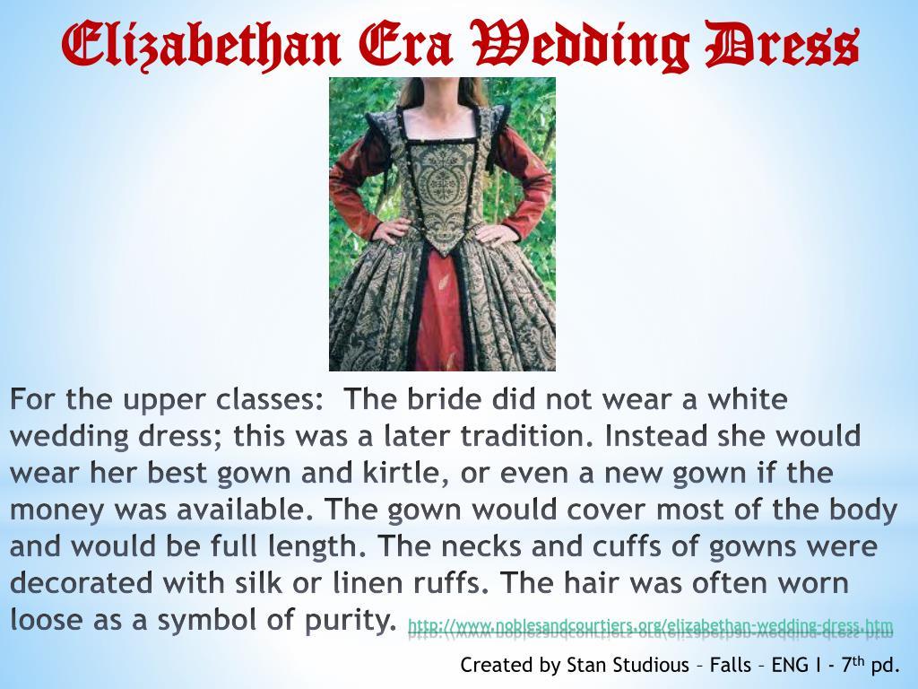 elizabethan era wedding
