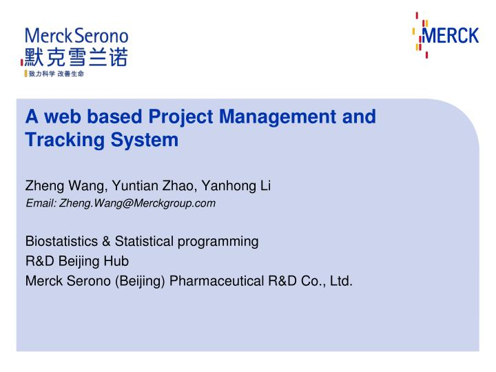 a web based project management and tracking system n.