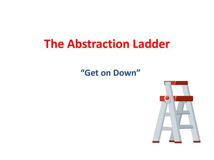 the abstraction ladder n.