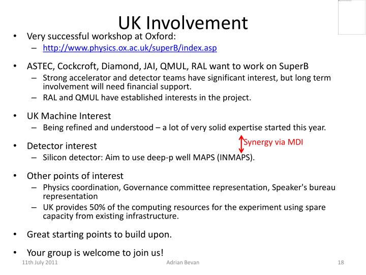 UK Involvement