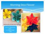 morning dew flower