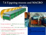 7 6 upgoing muons and macro italy