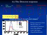 iv the detector response