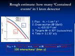 rough estimate how many contained events in 1 kton detector