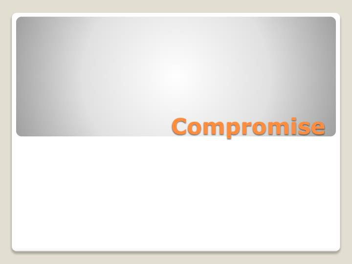 compromise n.